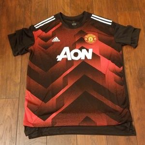 Manchester United AON red black Jersey Z203:9:619